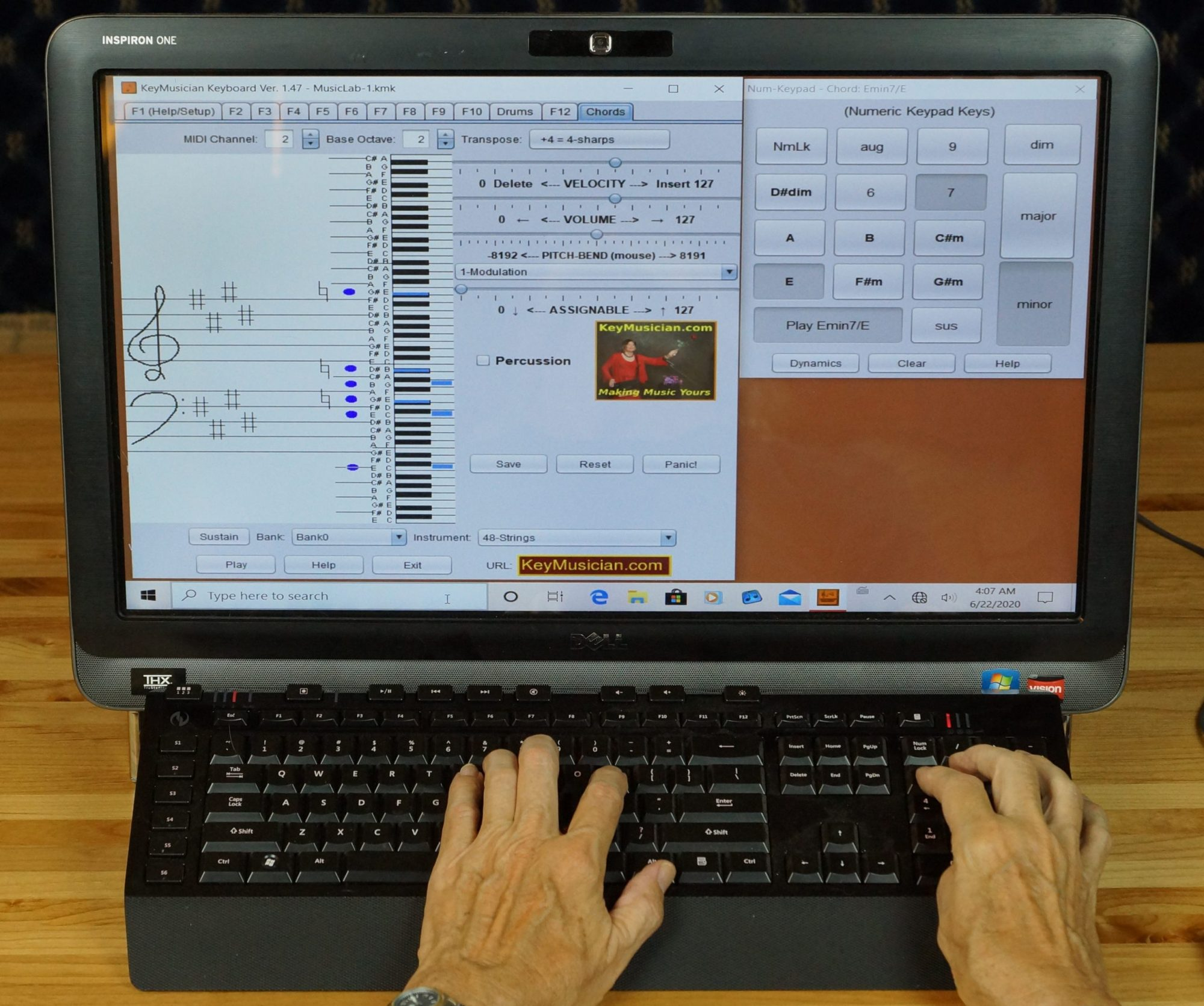 The KeyMusician (tm) Keyboard